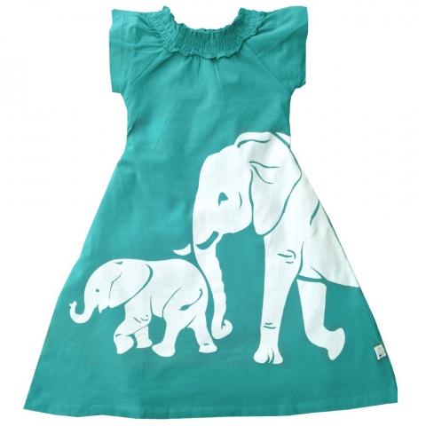 WeeUrban有機棉洋裝<br />小象 1