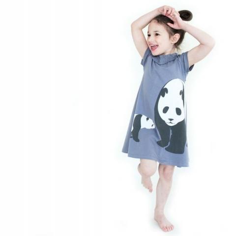 WeeUrban有機棉洋裝<br />Panda熊貓 2
