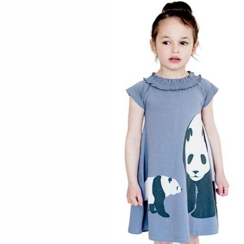 WeeUrban有機棉洋裝<br />Panda熊貓 3