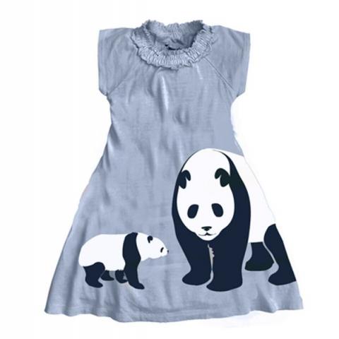 WeeUrban有機棉洋裝<br />Panda熊貓 1